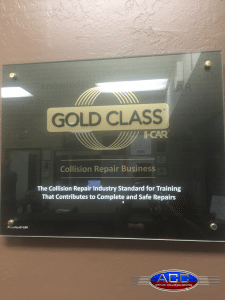 Airpark Collision Center is I-Car Gold Class certified.