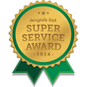 angie's list 2014 super service award badge