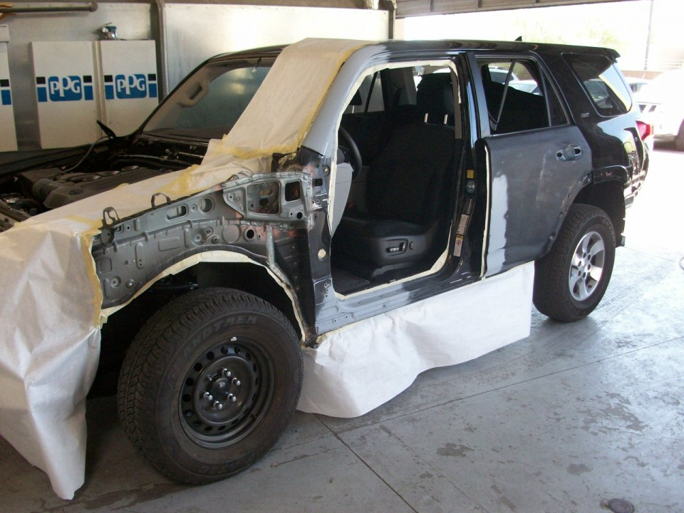 Toyota Body Shop Before and After Photo