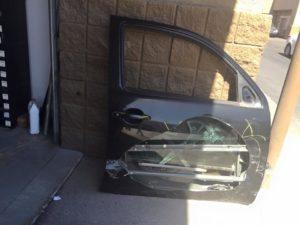 Damaged Car Door