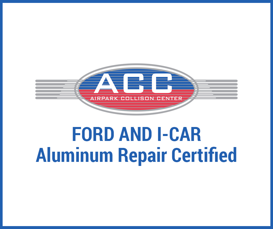 Airpark Collision Center Meets Ford and I-CAR Aluminum Collision Repair Requirements