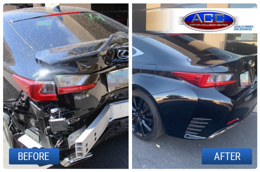 Lexus Collision Repair Before and After