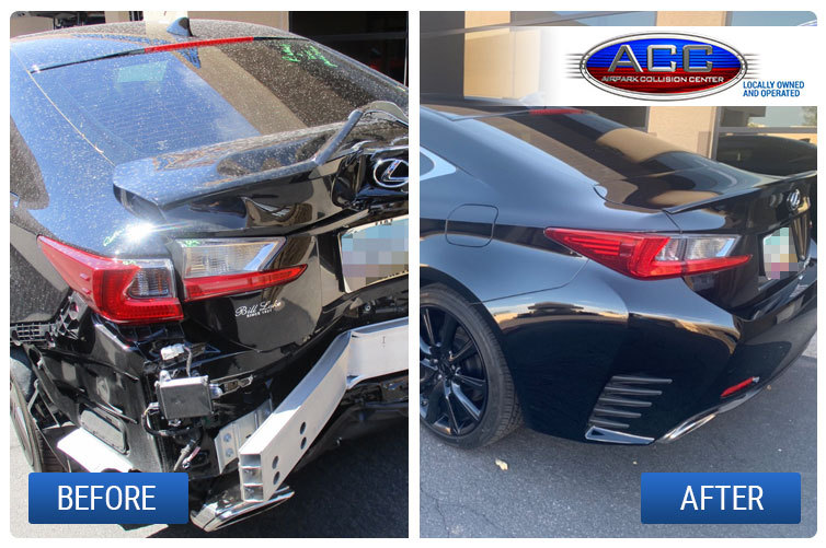 Lexus Major Collision Repair Before and After
