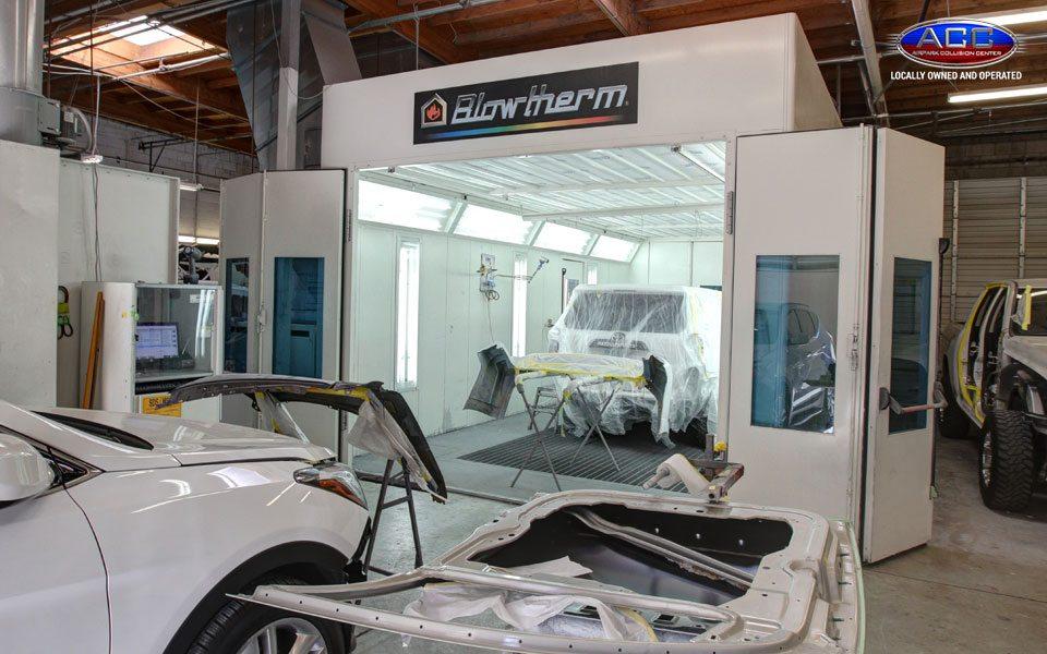 Inside an Auto Body Shop