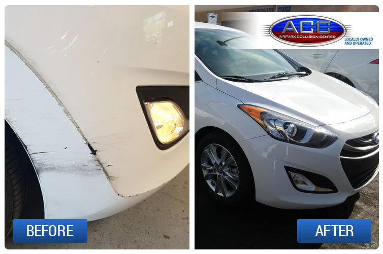 Before and After Image of a Hyundai Repair