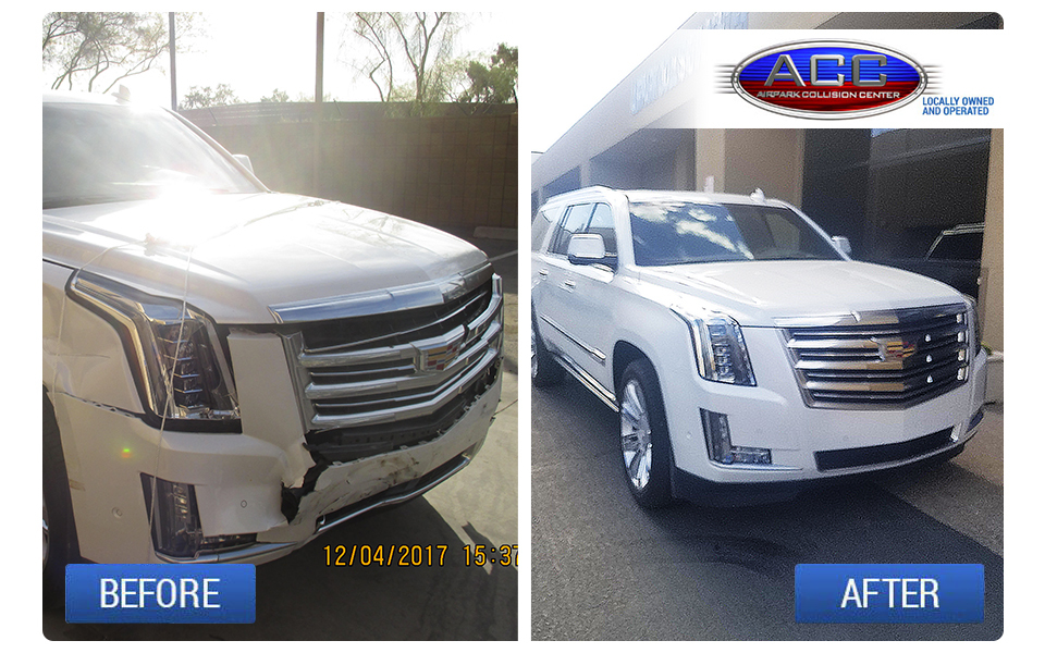 Cadillac Escalade - Before and After Collision Repair