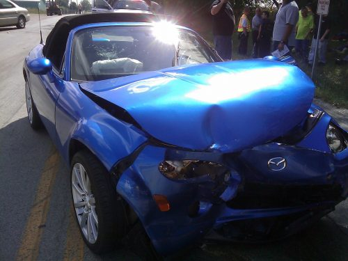Car after an auto collision